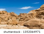 high rocky mountains in the... | Shutterstock . vector #1352064971