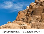 high rocky mountains in the... | Shutterstock . vector #1352064974