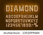 diamond golden font alphabet ... | Shutterstock .eps vector #1352099684