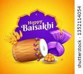 indian festival celebration... | Shutterstock .eps vector #1352114054