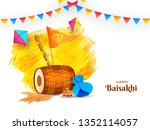 punjabi festival element and... | Shutterstock .eps vector #1352114057