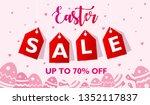 easter sale banner design... | Shutterstock .eps vector #1352117837