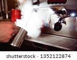 barista coffee maker machine...   Shutterstock . vector #1352122874