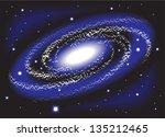 spiral space interstellar... | Shutterstock .eps vector #135212465