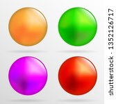 multicolored beads on a white... | Shutterstock .eps vector #1352126717