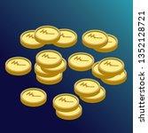 isometric 3d indian rupee ... | Shutterstock .eps vector #1352128721