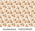 seamless pattern background... | Shutterstock . vector #1352134424