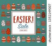easter sale print design. | Shutterstock .eps vector #1352149007