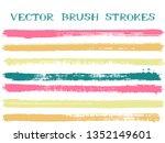 trendy pink brown green ink... | Shutterstock .eps vector #1352149601