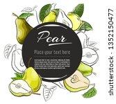 vector sketch pear  banner on... | Shutterstock .eps vector #1352150477