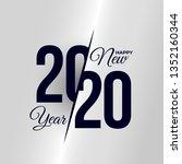 2020 logo happy new year. set... | Shutterstock .eps vector #1352160344