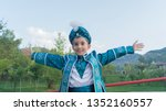 a circumcised child with a blue ... | Shutterstock . vector #1352160557