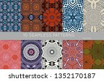 collection of seamless patterns.... | Shutterstock .eps vector #1352170187