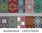 collection of seamless patterns.... | Shutterstock .eps vector #1352170244