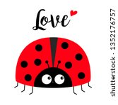 Red Lady Bug Ladybird Icon....