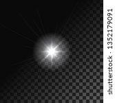 realistic lens flare. vector | Shutterstock .eps vector #1352179091