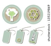eco friendly icons and vector... | Shutterstock .eps vector #135219869