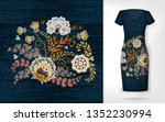 embroidery colorful trend... | Shutterstock .eps vector #1352230994