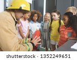 rear view of a caucasian... | Shutterstock . vector #1352249651