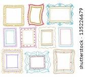 vintage photo frames set ... | Shutterstock .eps vector #135226679