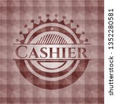 cashier red seamless polygonal... | Shutterstock .eps vector #1352280581