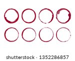 wine stain circles. coffee... | Shutterstock .eps vector #1352286857