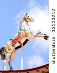 Carousel Horse With Blue Sky...