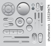 gray web ui elements design....