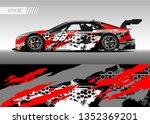 racing car wrap design vector.... | Shutterstock .eps vector #1352369201