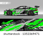 racing car wrap design vector....   Shutterstock .eps vector #1352369471