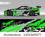 racing car wrap design vector....   Shutterstock .eps vector #1352369477