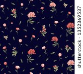 seamless floral pattern with... | Shutterstock .eps vector #1352369537