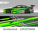 racing car wrap design vector.... | Shutterstock .eps vector #1352370404
