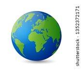 glossy earth globes... | Shutterstock .eps vector #1352372171