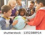 front view of a schoolteacher... | Shutterstock . vector #1352388914