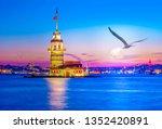 maiden's tower in istanbul ... | Shutterstock . vector #1352420891