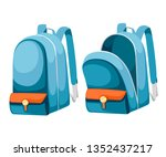 colorful opened and closed...   Shutterstock .eps vector #1352437217