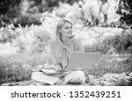 business lady freelance work... | Shutterstock . vector #1352439251