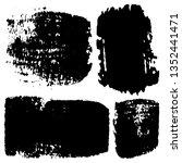 set of grunge textures. vector... | Shutterstock .eps vector #1352441471