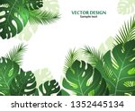vector background with tropical ...   Shutterstock .eps vector #1352445134