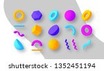 set of colorful geometric... | Shutterstock .eps vector #1352451194