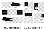cool minimalist design set for... | Shutterstock .eps vector #1352455457
