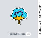 cotton flat icon. agriculture...
