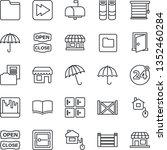 thin line icon set   24 around... | Shutterstock .eps vector #1352460284