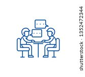 consulting line icon concept.... | Shutterstock .eps vector #1352472344