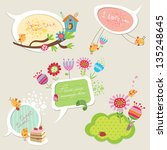 speech bubbles set with funny... | Shutterstock .eps vector #135248645