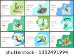 highlining and motorbike biking ...   Shutterstock .eps vector #1352491994