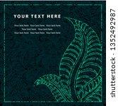 grunge vector greeting... | Shutterstock .eps vector #1352492987