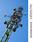 tv communication tower on... | Shutterstock . vector #135251741