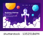 website landing home page with... | Shutterstock .eps vector #1352518694